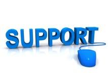 Blauwe steun en muis Stock Foto's