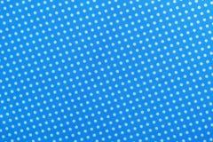 Blauwe stip katoenen lijstdoek direct hierboven royalty-vrije stock fotografie