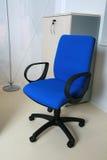 Blauwe stoel Stock Foto's