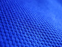 Blauwe stof Stock Foto's