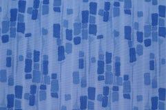 Blauwe stoffentextuur Stock Afbeeldingen