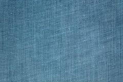 Blauwe stoffentextuur Stock Afbeelding