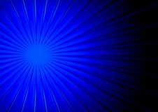 Blauwe stralen royalty-vrije illustratie