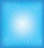 Blauwe stralen als achtergrond vector illustratie