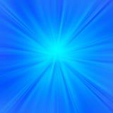 Blauwe stralenachtergrond Royalty-vrije Stock Fotografie
