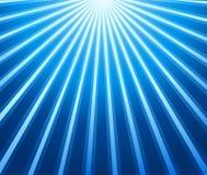 Blauwe stralenachtergrond Stock Afbeeldingen