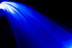 Blauwe stralenwaterval stock afbeelding