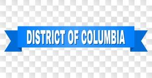 Blauwe Streep met DISTRICT VAN de Titel van COLOMBIA vector illustratie