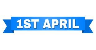 Blauwe Streep met 1ST APRIL Text Stock Afbeeldingen