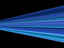 Blauwe strook zwarte achtergrond Royalty-vrije Stock Afbeelding