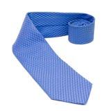Blauwe stropdas die op wit wordt geïsoleerde Stock Afbeelding