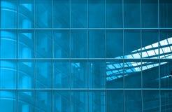 Blauwe structurele verglazing stock afbeelding