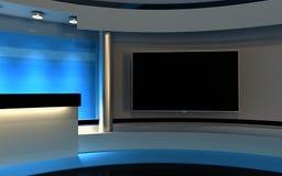 Blauwe studio Stock Foto