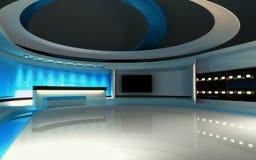 Blauwe studio Royalty-vrije Stock Foto