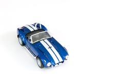 Blauwe stuk speelgoed auto Stock Fotografie