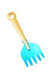 Blauwe stuk speelgoed spade Stock Foto's