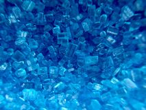 Blauwe suiker royalty-vrije stock foto