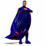 Blauwe super held #1 Stock Afbeeldingen