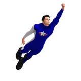 Blauwe Super Held vector illustratie
