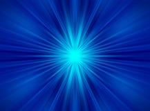 Blauwe symmetrische abstracte stralen royalty-vrije stock fotografie