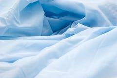 Blauwe synthetische stof Stock Afbeelding