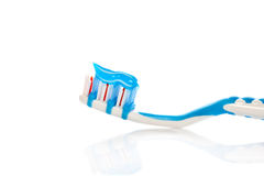 Blauwe tandenborstel Stock Afbeelding