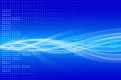 Blauwe technische achtergrond Stock Foto's