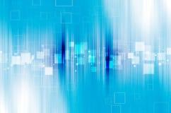 Blauwe technologie abstracte achtergrond Stock Fotografie