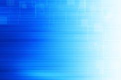 Blauwe technologie abstracte achtergrond Stock Foto's