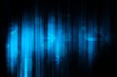 Blauwe technologie op zwarte achtergrond Royalty-vrije Stock Afbeelding