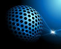 Blauwe technologieachtergrond Royalty-vrije Stock Afbeeldingen