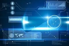 Blauwe technologieinterface met gloed Royalty-vrije Stock Afbeeldingen