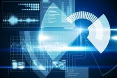 Blauwe technologieinterface met wijzerplaat Royalty-vrije Stock Afbeelding