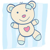 Blauwe Teddybeer royalty-vrije illustratie