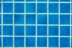Blauwe tegels op de bodem van de pool royalty-vrije stock foto
