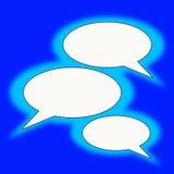 Blauwe tekstballons Royalty-vrije Stock Afbeeldingen