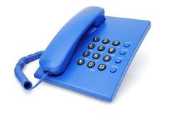 Blauwe telefoon Stock Afbeeldingen