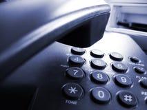 Blauwe telefoon Stock Foto