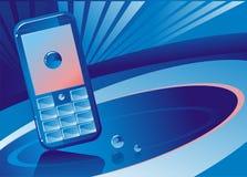 Blauwe telefoonachtergrond Royalty-vrije Stock Foto