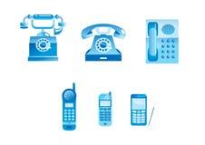 Blauwe telefoons Stock Afbeeldingen