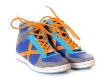 Blauwe tennisschoenen Royalty-vrije Stock Afbeelding