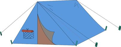 Blauwe tent Stock Afbeelding