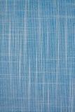 Blauwe textiel geweven achtergrond royalty-vrije stock afbeeldingen