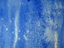Blauwe Texturen 2 van de Waterverf Stock Afbeeldingen