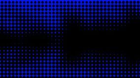 Blauwe Textuur Hypnose halftone psychedelisch art. Grafische in syntwaveachtergrond stock illustratie