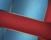 Blauwe textuur met rode lijnen Malplaatje voor ontwerp exemplaarruimte voor advertentiebrochure of aankondigingsuitnodiging Stock Foto