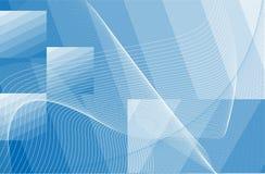 Blauwe textuur met vawes Stock Foto