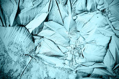 Blauwe textuur van ijs, bevroren water Stock Fotografie