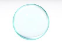 Blauwe transparante bal royalty-vrije illustratie
