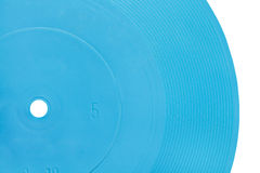 Blauwe transparante flexibele verslagschijf royalty-vrije stock foto's